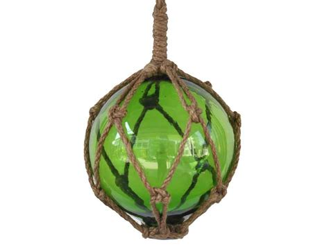 japanese glass buy green japanese glass ball fishing float with brown netting