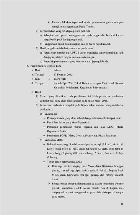Bibit Jagung Komposit laporan pembinaan kelembagaan petani tahun 2015
