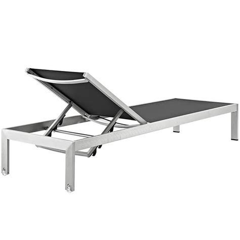 black chaise lounge outdoor modern outdoor aluminum chaise lounge modern furniture