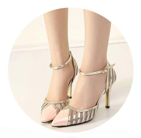 ankle wrap high heels fashion noble pink ankle wrap pointed toe high heels sws20314
