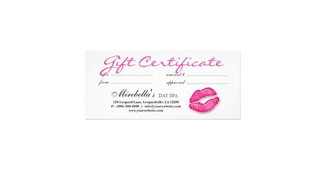 Make Your Own Wall Stickers makeup artist gift certificate pink zazzle