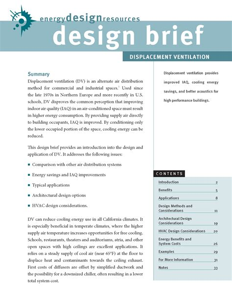 design brief template energy design resources design briefs page