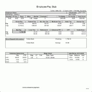 8 Self Employed Pay Stub Template Simple Salary Slip Free Self Employed Pay Stub Template