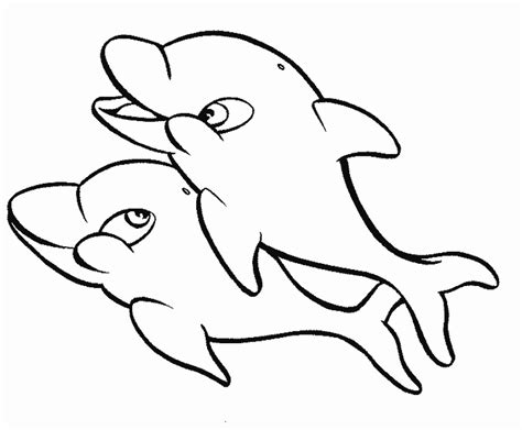 Baby Dolphin Easy Coloring Pages Dolphin Color Pages