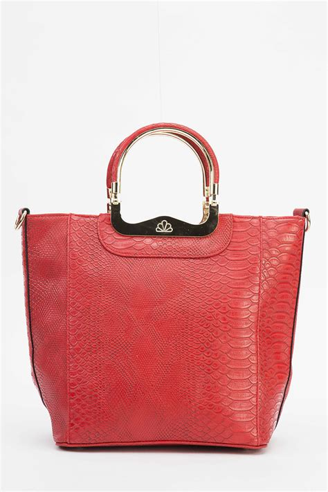 Top Five Mock Croc Bags by Mock Croc Detailed Handle Bag Just 163 5