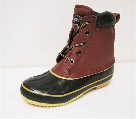 occupational s duck boots leather insulated