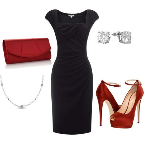 black dress  touch  color black dress outfits