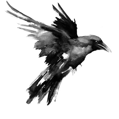 flying raven painting by suren nersisyan tatuajes