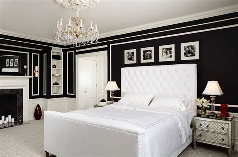 Decorating Ideas In Black And White Glamorous Bedrooms For Some Weekend Eye