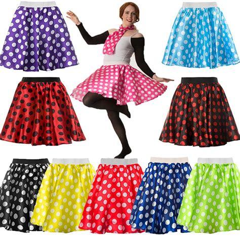 Rok Skirt Polkadot polka dot skirt scarf rock roll 50 s fancy dress hen grease ebay