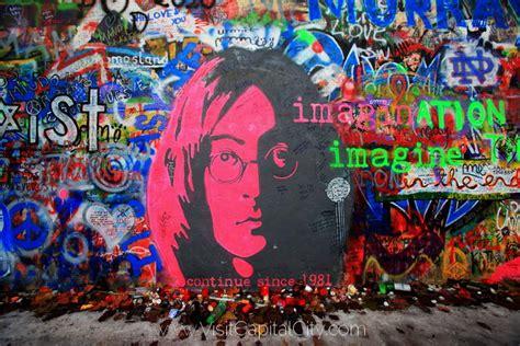 Beatles Wall Mural prague capital city of czech republic