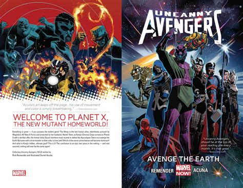 Pdf Uncanny Unity Vol Earth by Uncanny Vol 4 Avenge The Earth 2014 Digital