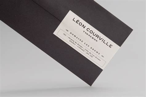Blind Embossed Stationery New Brand Identity For L 233 On Courville By Lg2 Boutique Bp Amp O