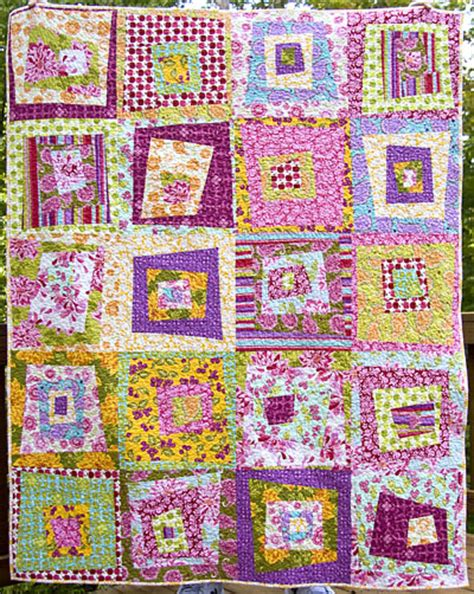 your rocker wacky farmer s market log cabin quilt