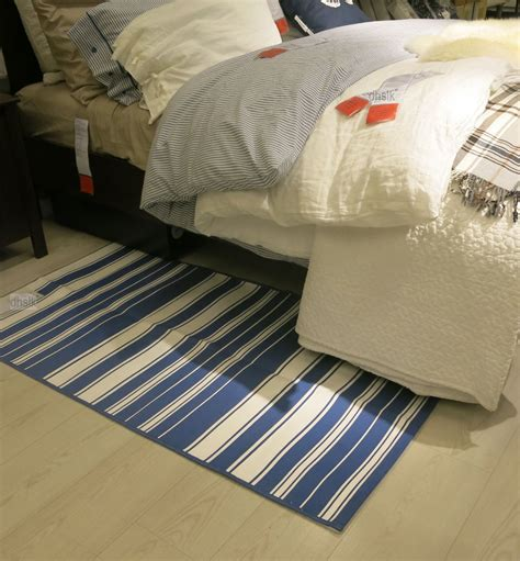 ikea throw rugs ikea alslev blue white stripes area throw rug mat
