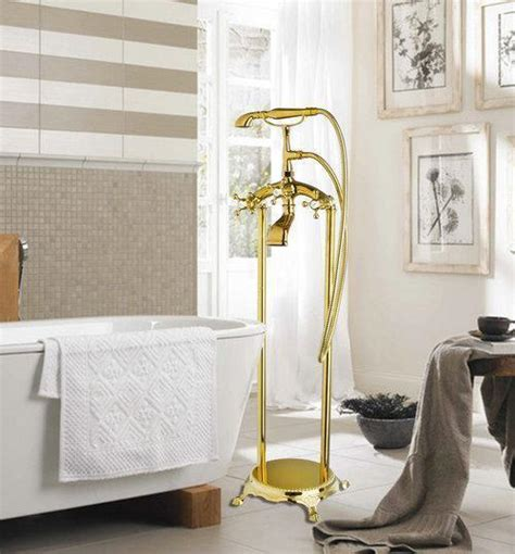 ross bathroom sets ross bathtub faucet torneira bathroom new polished golden 51004 floor shower set deck