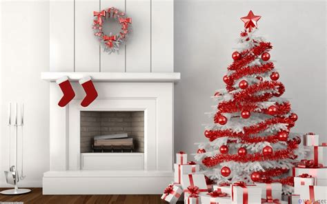 Christmas Decorations In Home by Red And White Christmas Home Decoration Ideas Christmas