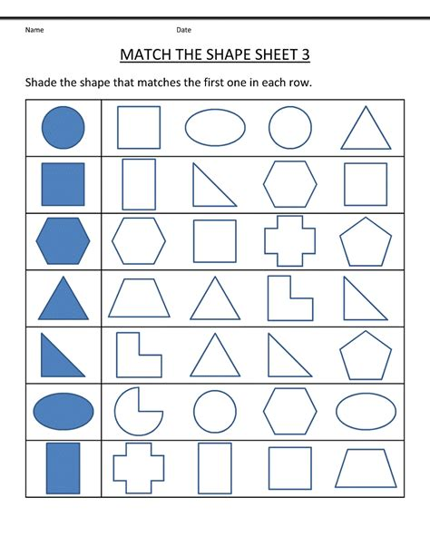 free printable recognizing shapes worksheet goodsnyc