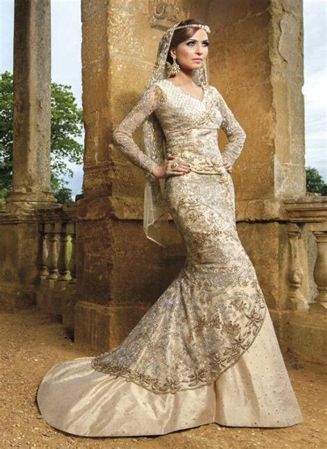 asian western wedding dresses white gold lengha wedding