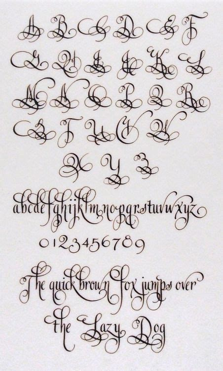 tattoo fonts cursive numbers lindsey hook loops capital lowercase letters and numbers