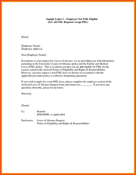 format application letter for leave request letter for leave application sle