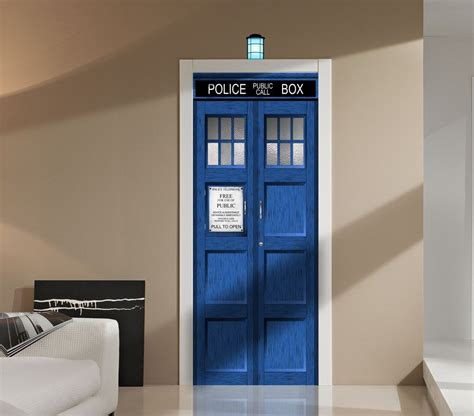 Tardis Door Cling by Doctor Who Tardis Wall Or Door Decal Sticker Graphic Dr