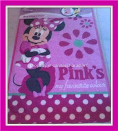 new girls pink disney minnie mouse bedroom rug ebay