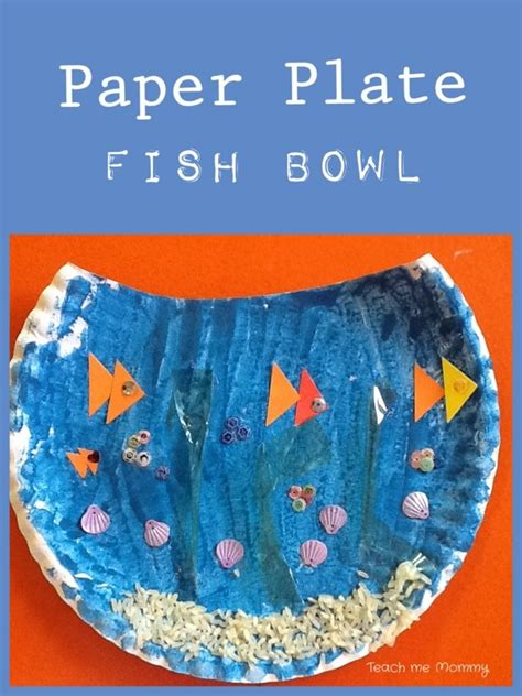 Paper Fish Bowl Craft - our week the sea theme 2 teach me