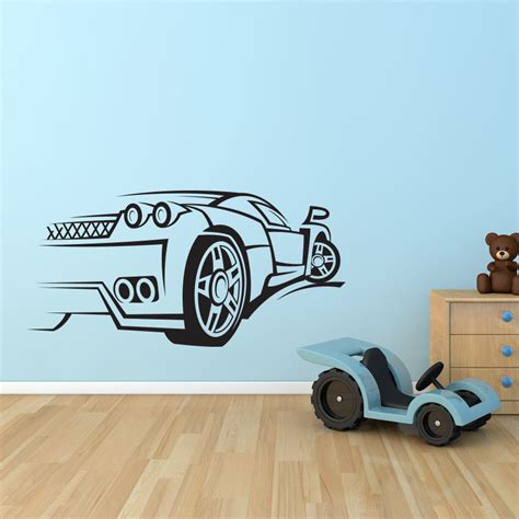 Car Wall Decals For Nursery Sport Car Race Speed Wall Decal Nursery Vinyl Sticker Mural Decor Children