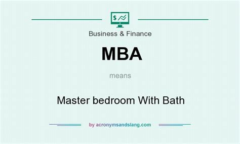 Mba Acronym Business by Mba Master Bedroom With Bath In Business Finance By
