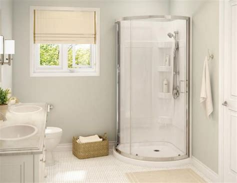 upstairs bathroom corner shower pinteres maax 174 cyrene shower kit 34 quot x 34 quot chrome clear glass