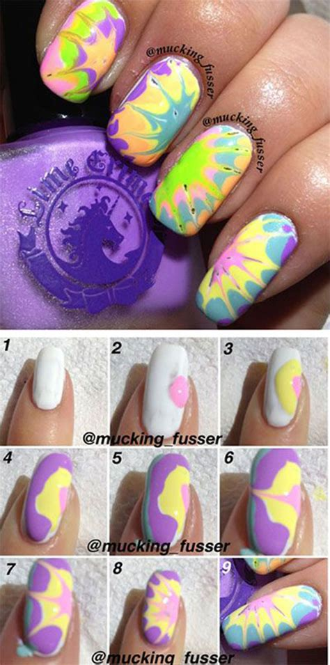 nail art tutorial for beginners step by step easy step by step marble nails art tutorials for beginners
