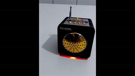Speaker V8 Mini Me caixinha de som r 225 dio pen drive e cart 227 o