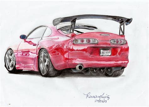 toyota supra drawing how to draw toyota supra