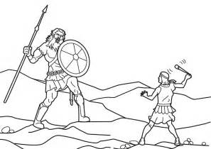 David And Goliath Coloring Pages  sketch template