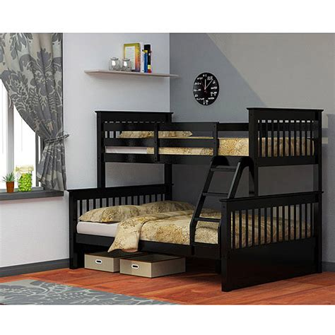 Dallan Twin Over Full Bunk Bed Black Walmart Com Dallan Bunk Bed