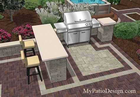 Patio Bar Designs Great Grill Station Idea For Slide In Grills With Side Burners This Grill Station Features A