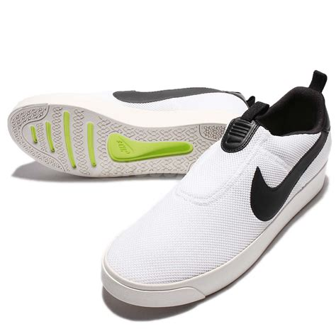 nike court royale lw slip on low white black casual