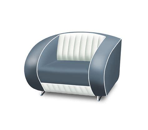 single air sofa bel air retro furniture single seater sofa white back