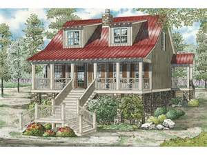 Raised Cottage House Plans Leslie Pier Raised Cottage Home Plan 055d 0816 House