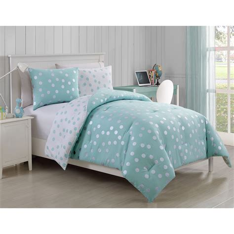 polka dots bedding set freshen up your one s bedding decor with the dotty comforter set featuring a reversible