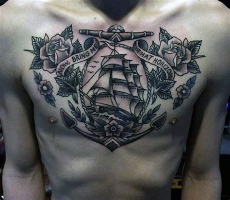 tattoo chest ship 60 traditional ship tattoo designs for men nautical ink