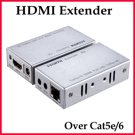 Hdmi Extender By Cat 5e 60m hd 3d 1080p hdmi extender 60m single cat 5e 6 rj45 ethernet wires support bi