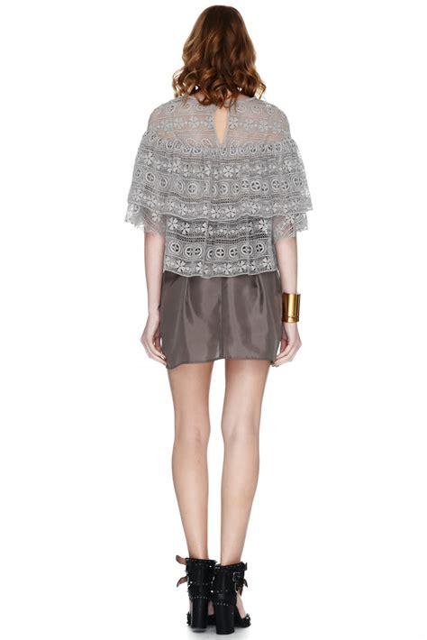 Blouse Lace Grey gray lace blouse mexican blouse