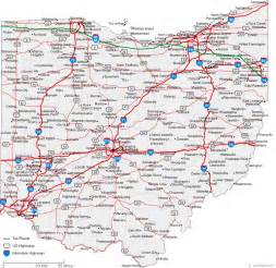 map of ohio cities ohio road map