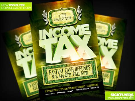 Income Tax Flyers Templates Free
