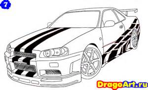 How To Draw A Nissan Gtr How To Draw Nissan Skyline Step By Step Book Covers