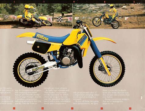 1985 Suzuki Rm 250 1985 Suzuki Rm125 Rm250 Sales Brochure Gallery