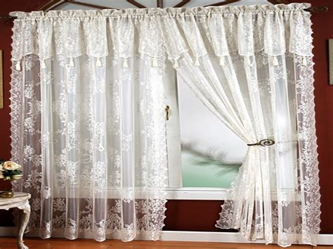 drapes with attached valance lace curtains with attached valance new lace curtains