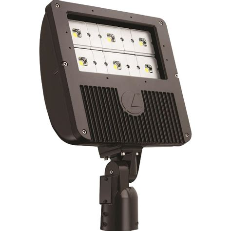 Outdoor Led Light Bulbs Lithonia Lighting 129 Watt Bronze Outdoor Integrated Led Flood Light With 6 Engine